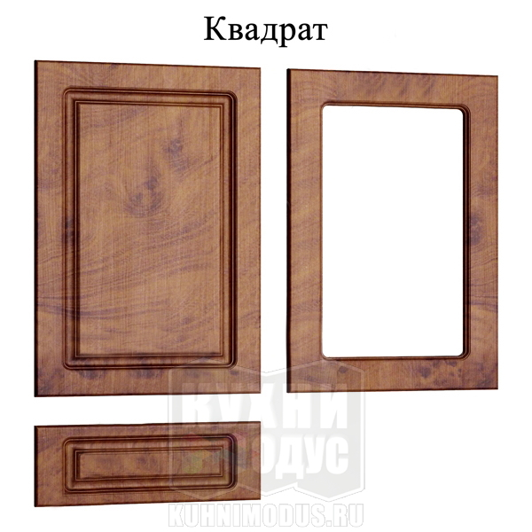 Прованс МДФ квадрат кухни на заказ в Воронеже МОДУС