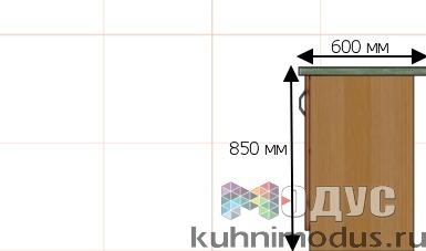 Стандартные размеры кухонных шкафов